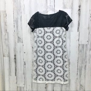 Metaphor Black & White Lace Dress Size 12 NWOT